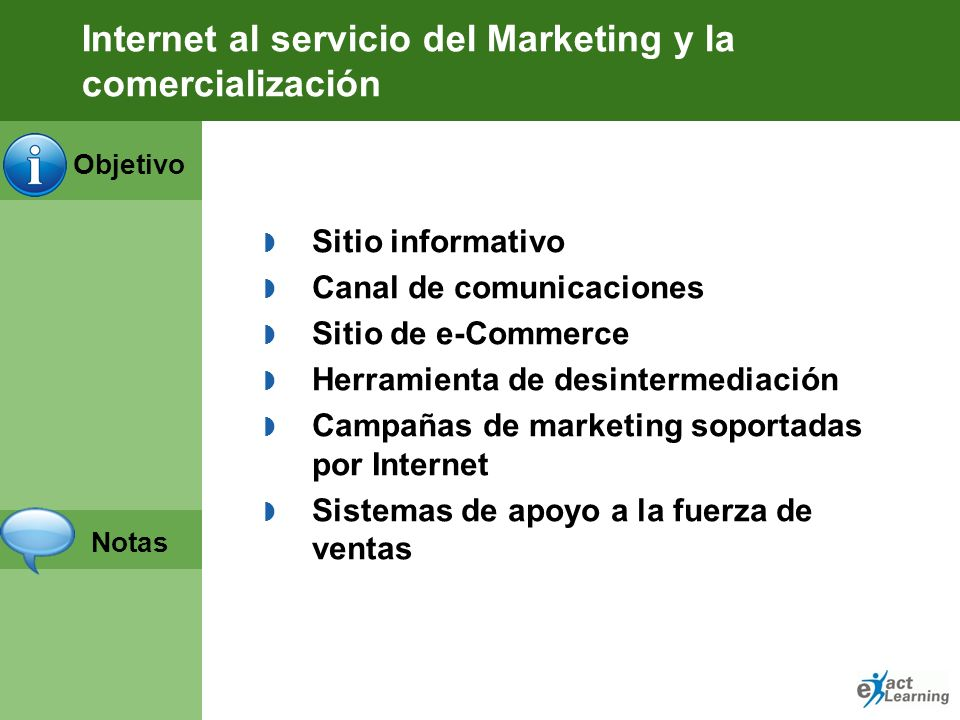 Internet al servicio del Marketing y la comercialización