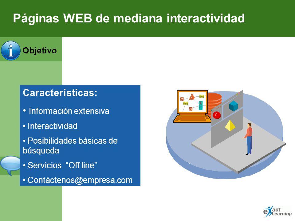 Páginas WEB de mediana interactividad
