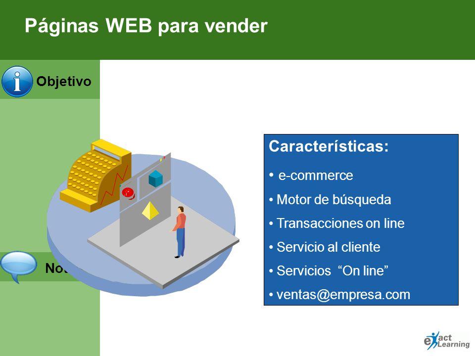 Páginas WEB para vender