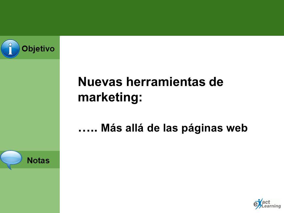 Nuevas herramientas de marketing: ….. Más allá de las páginas web