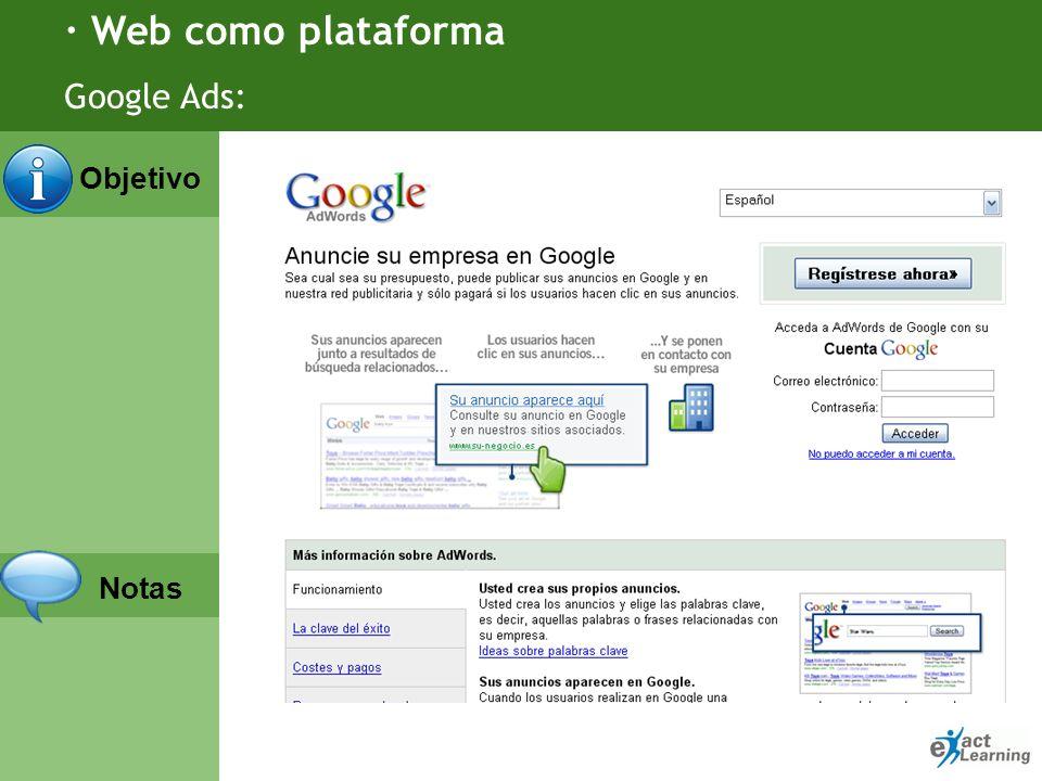 · Web como plataforma Google Ads: