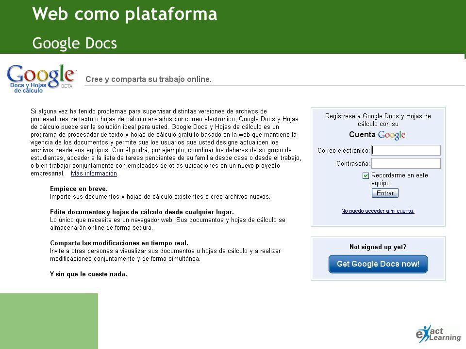 Web como plataforma Google Docs