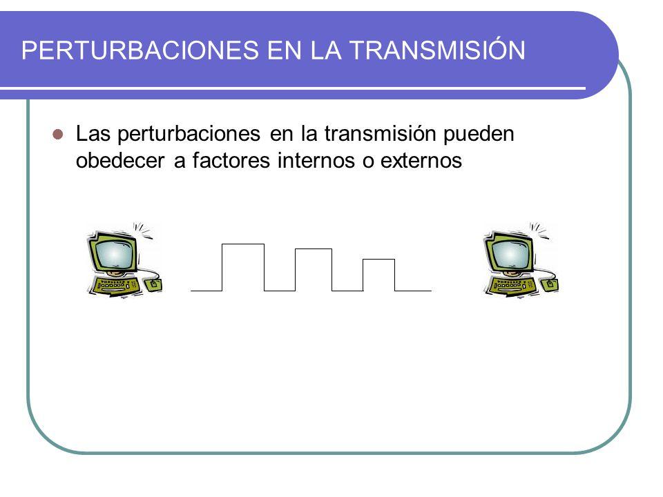 PERTURBACIONES EN LA TRANSMISIÓN