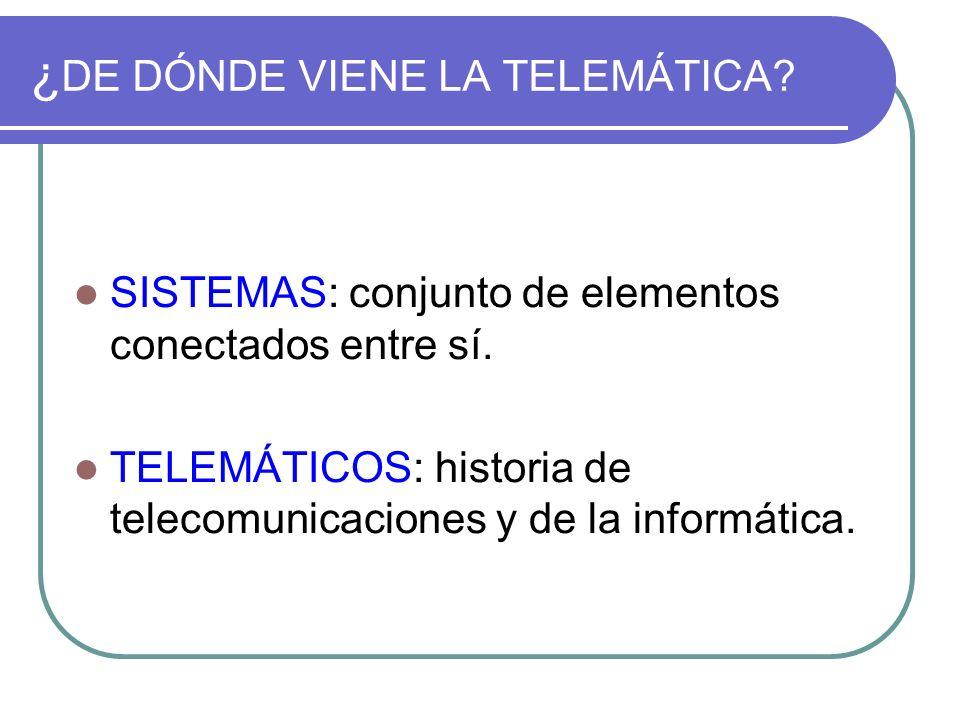¿DE DÓNDE VIENE LA TELEMÁTICA