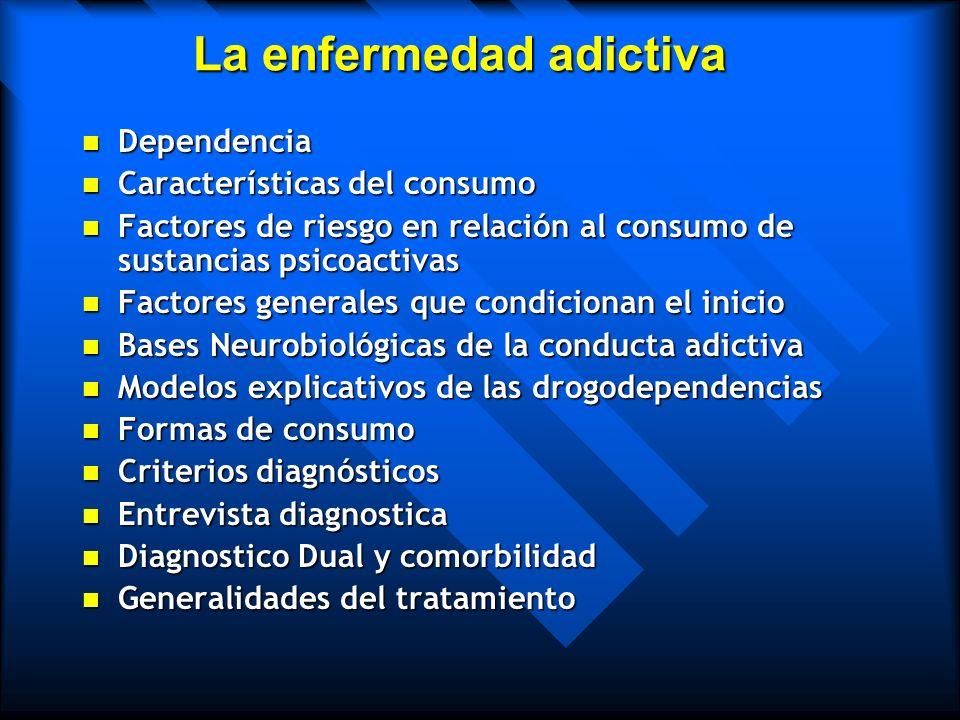 La enfermedad adictiva