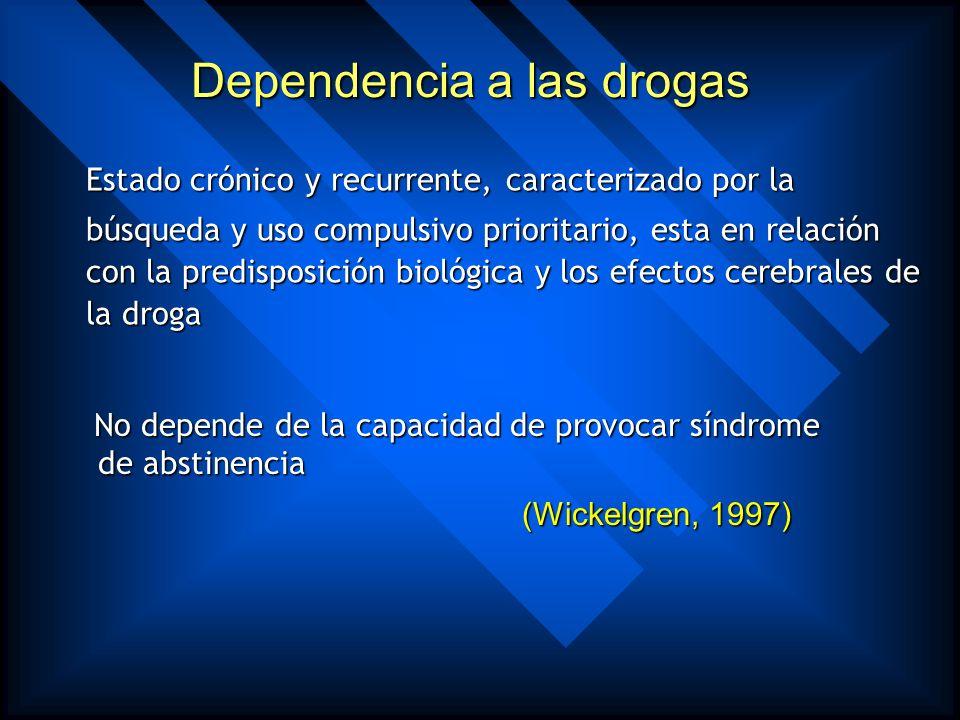 Dependencia a las drogas