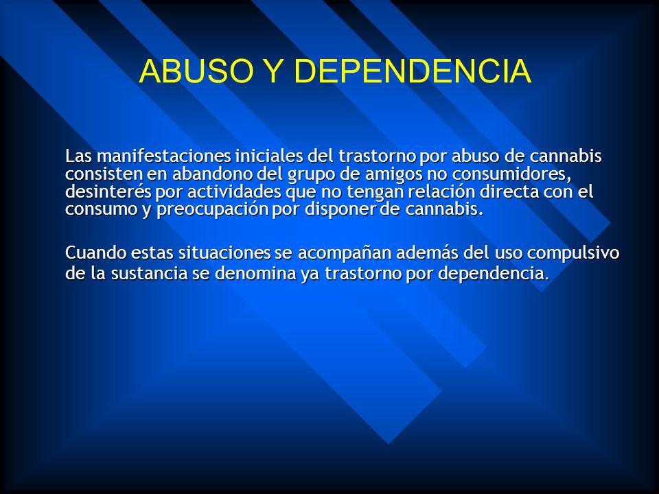 ABUSO Y DEPENDENCIA