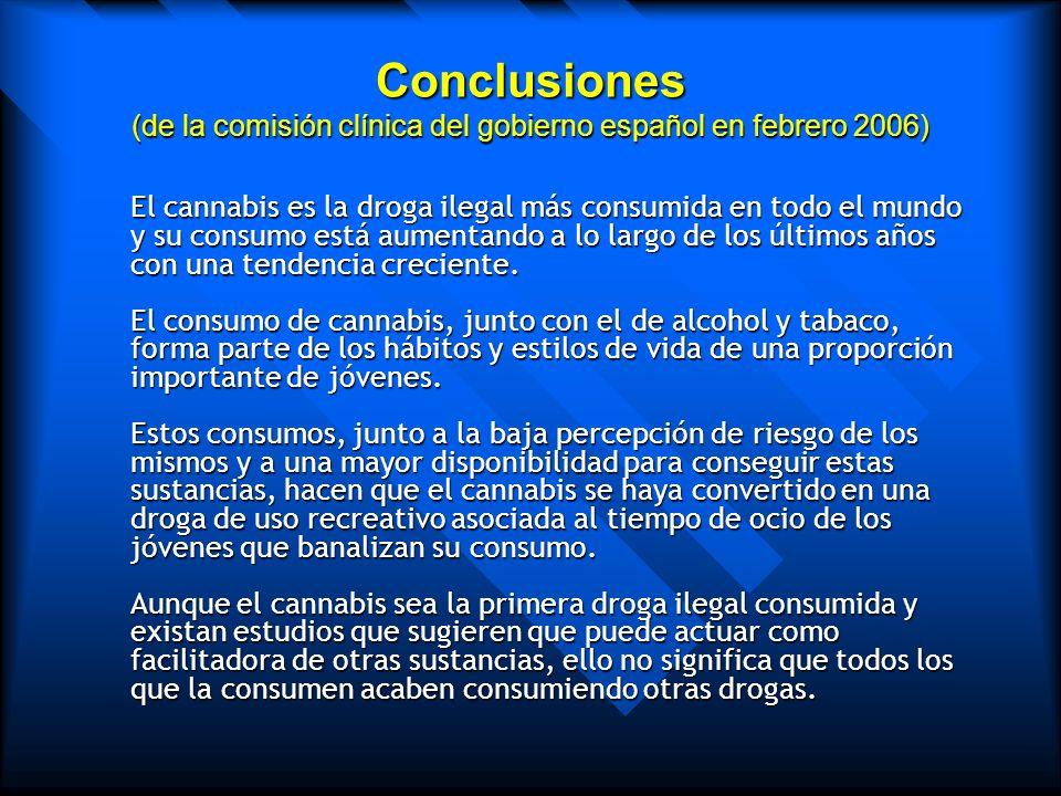 Conclusiones (de la comisión clínica del gobierno español en febrero 2006)