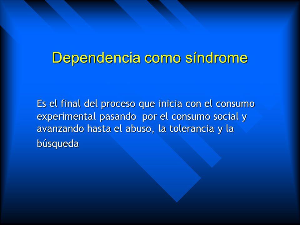 Dependencia como síndrome