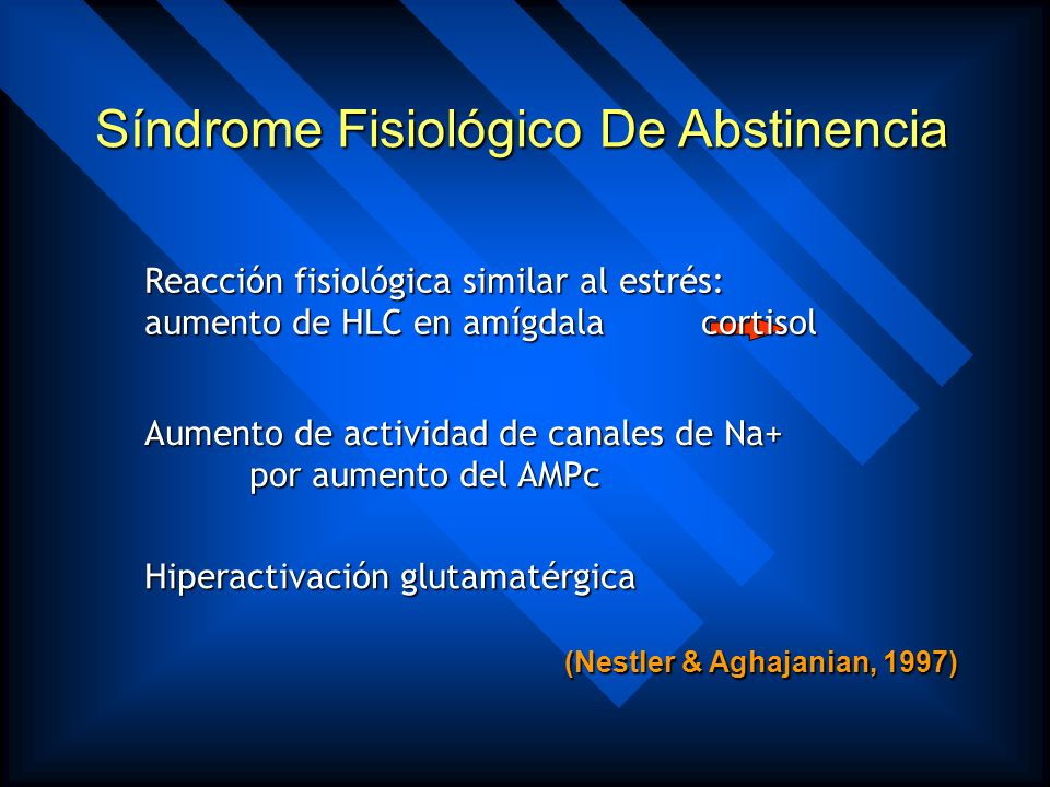Síndrome Fisiológico De Abstinencia