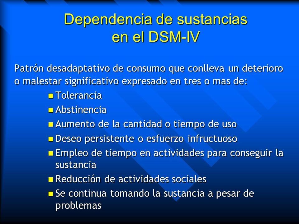 Dependencia de sustancias en el DSM-IV