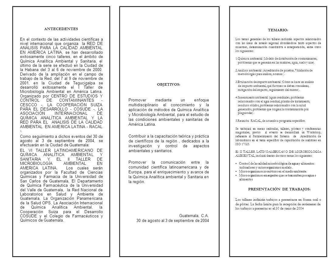 PRESENTACIÓN DE TRABAJOS: