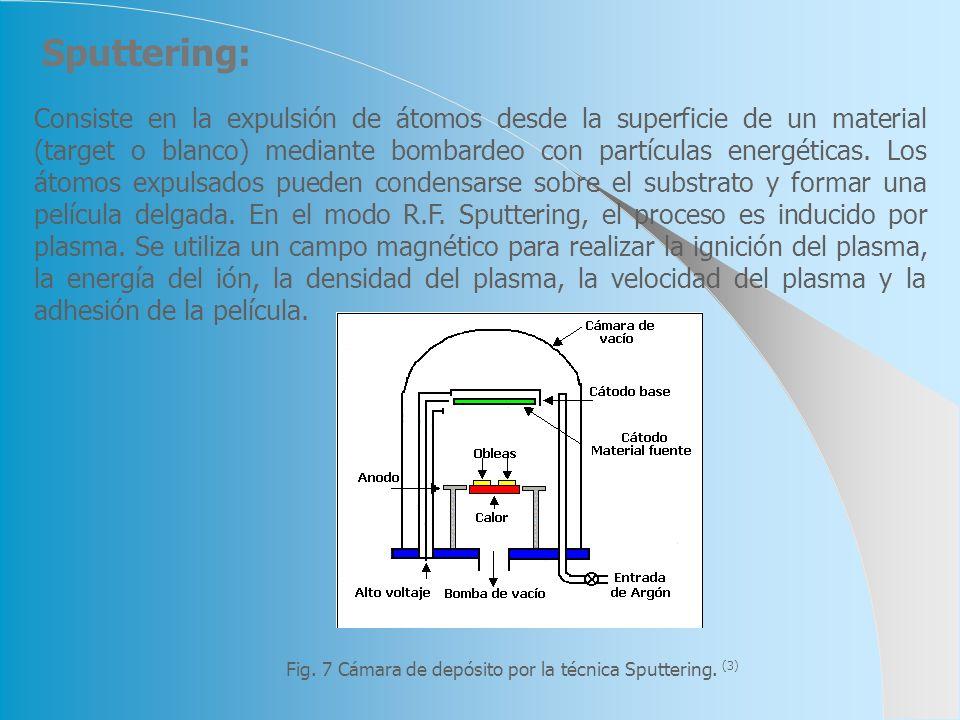 Fig. 7 Cámara de depósito por la técnica Sputtering. (3)