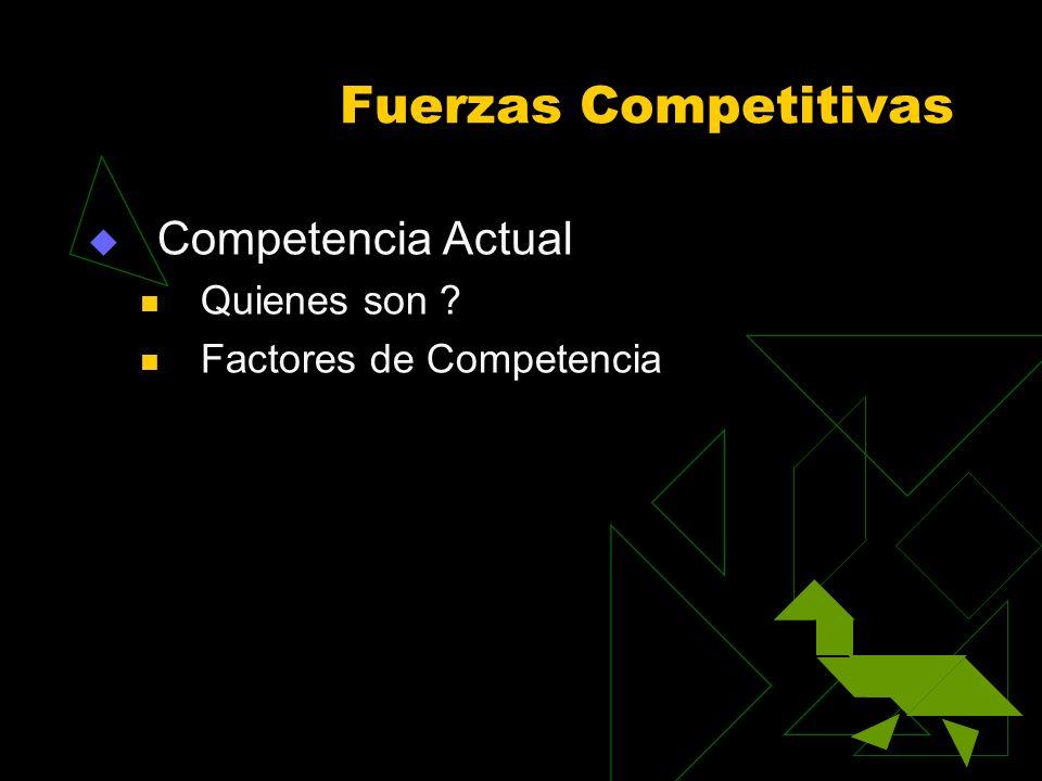Fuerzas Competitivas Competencia Actual Quienes son