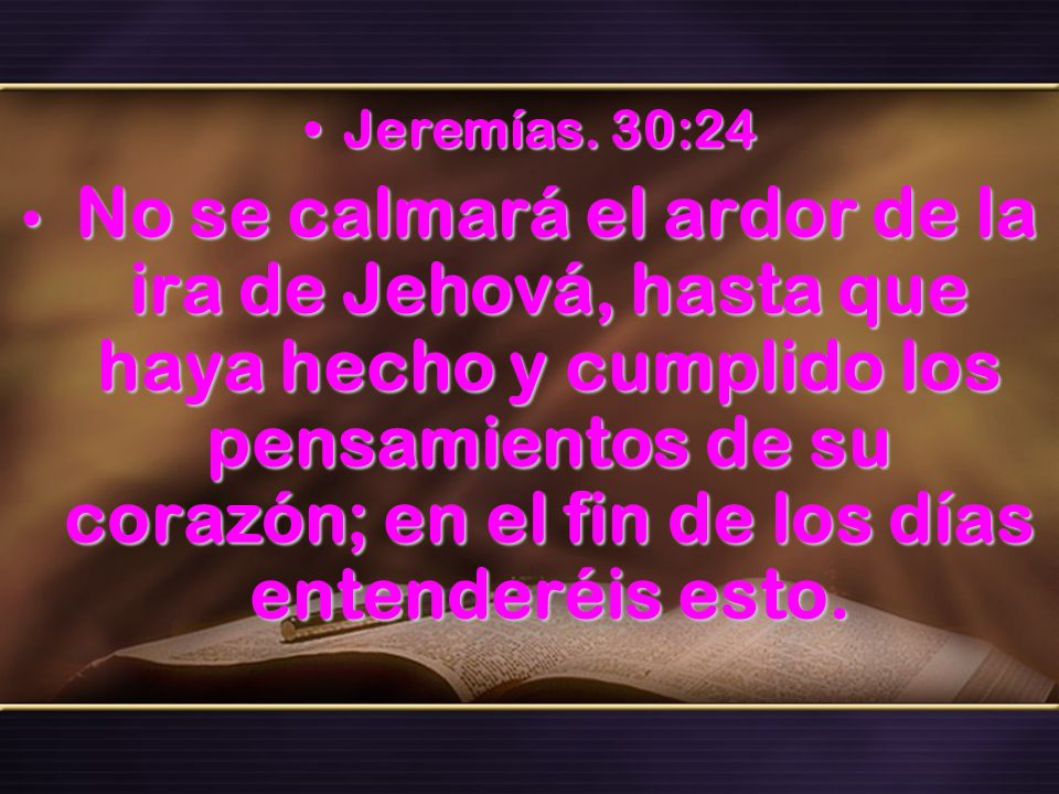 Jeremías. 30:24