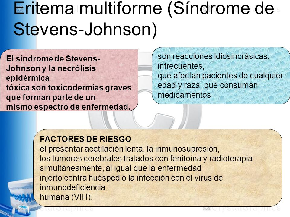 Eritema multiforme (Síndrome de Stevens-Johnson)