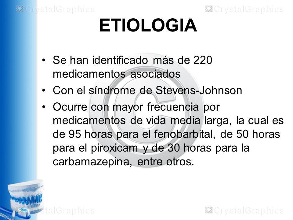 ETIOLOGIA Se han identificado más de 220 medicamentos asociados