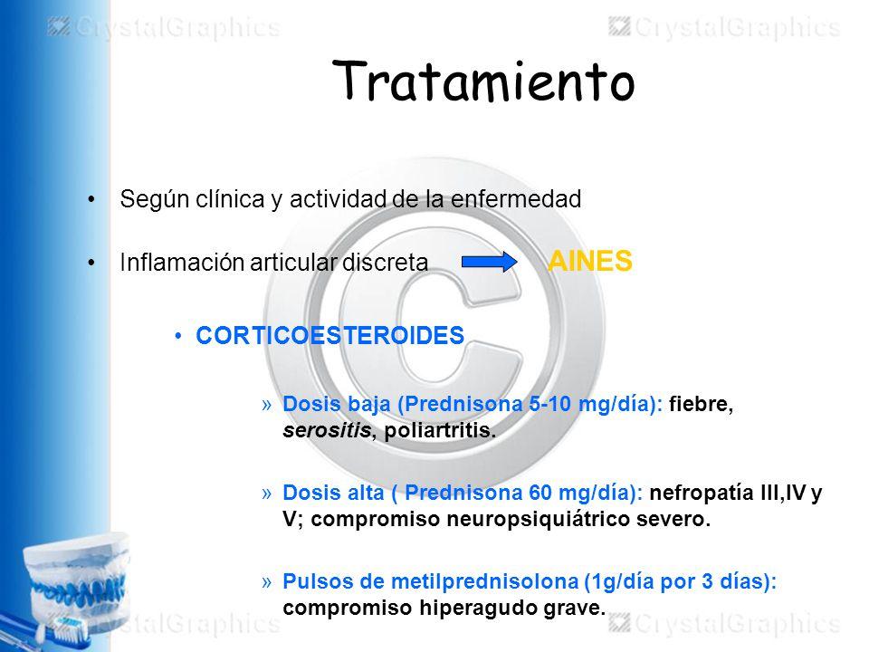 Tratamiento Según clínica y actividad de la enfermedad