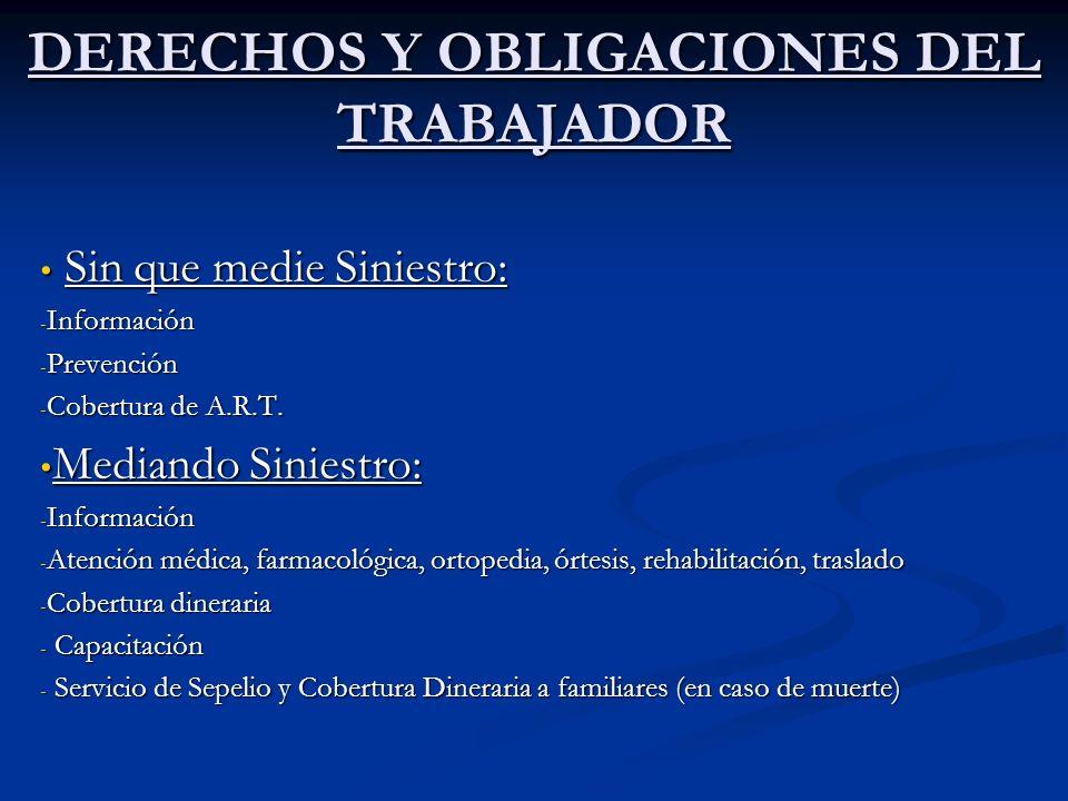 DERECHOS Y OBLIGACIONES DEL TRABAJADOR