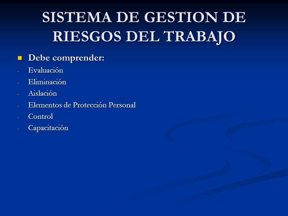 SISTEMA DE GESTION DE RIESGOS DEL TRABAJO