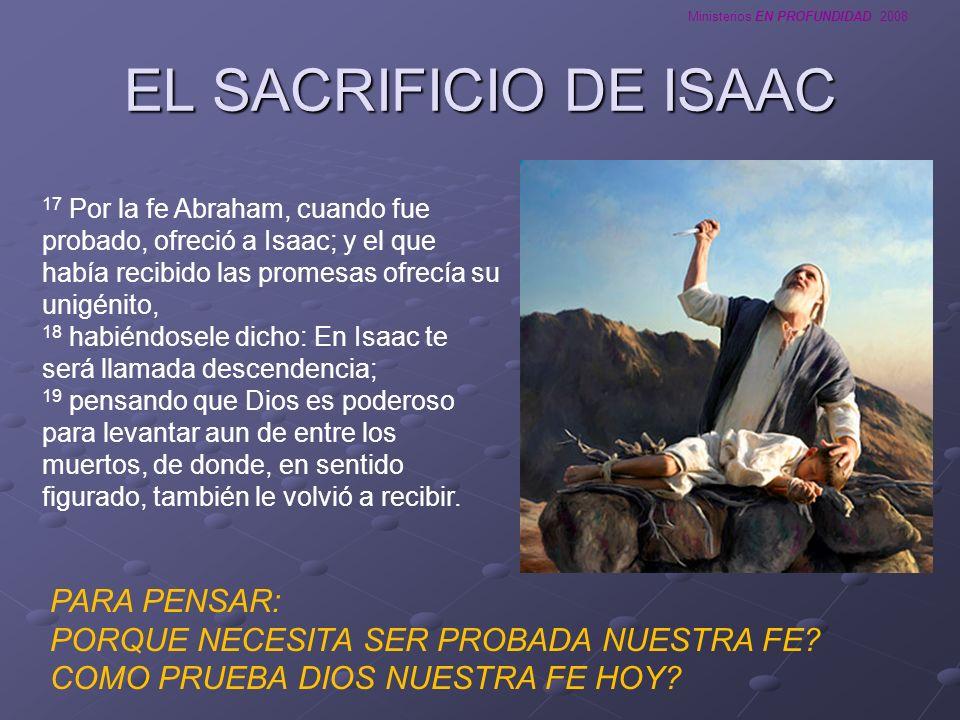 EL SACRIFICIO DE ISAAC PARA PENSAR: