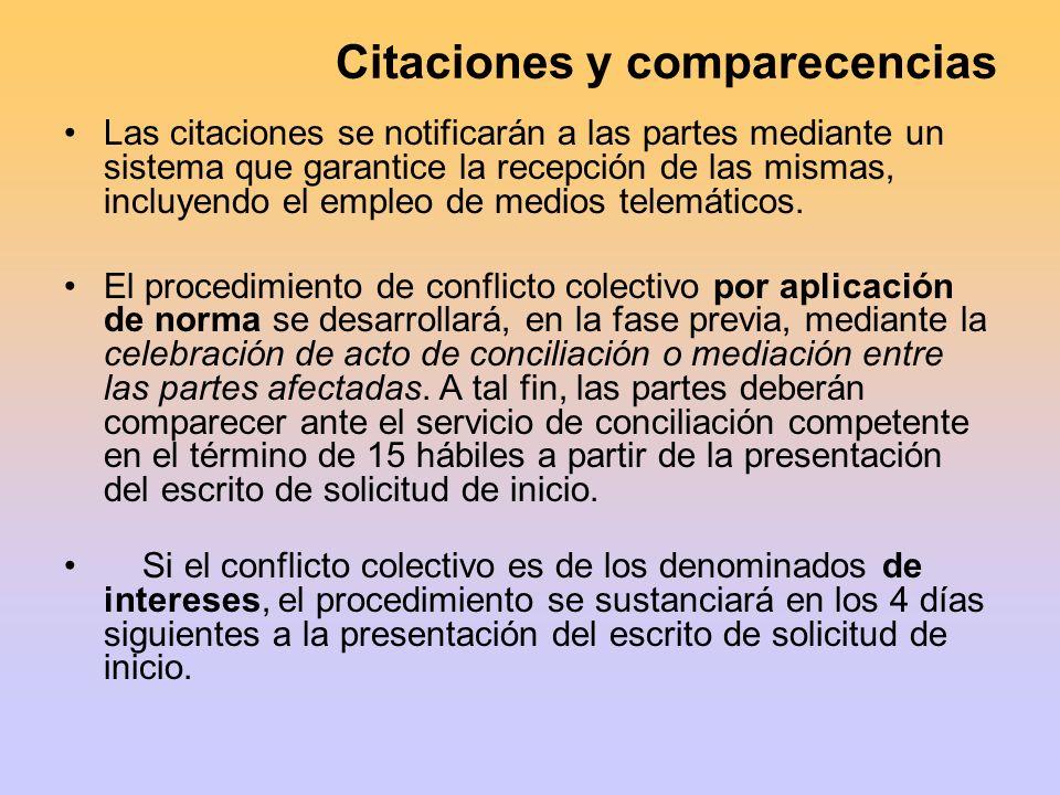 Citaciones y comparecencias