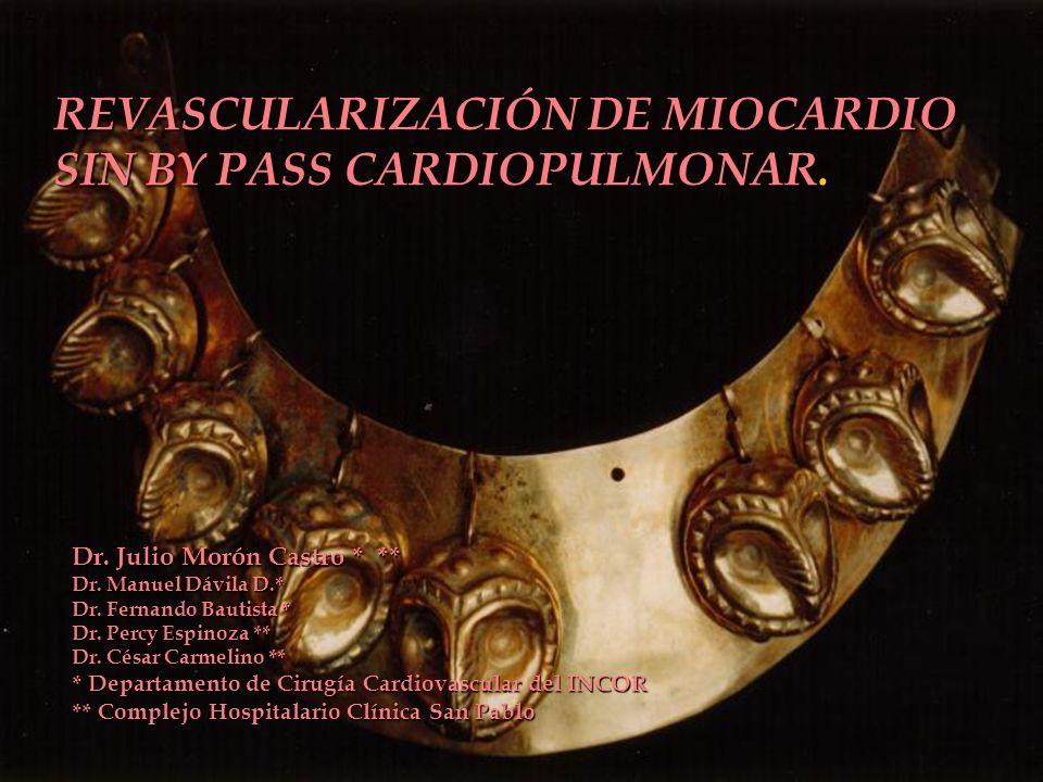 REVASCULARIZACIÓN DE MIOCARDIO SIN BY PASS CARDIOPULMONAR.