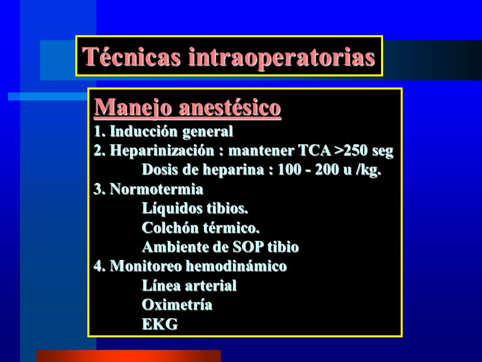 Técnicas intraoperatorias