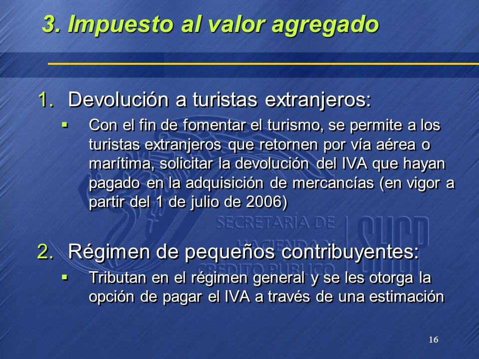 3. Impuesto al valor agregado