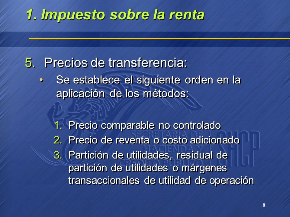1. Impuesto sobre la renta