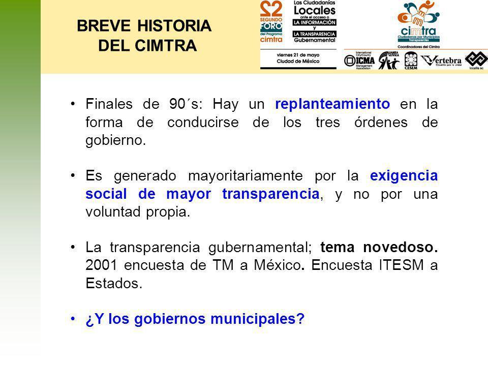 BREVE HISTORIA DEL CIMTRA