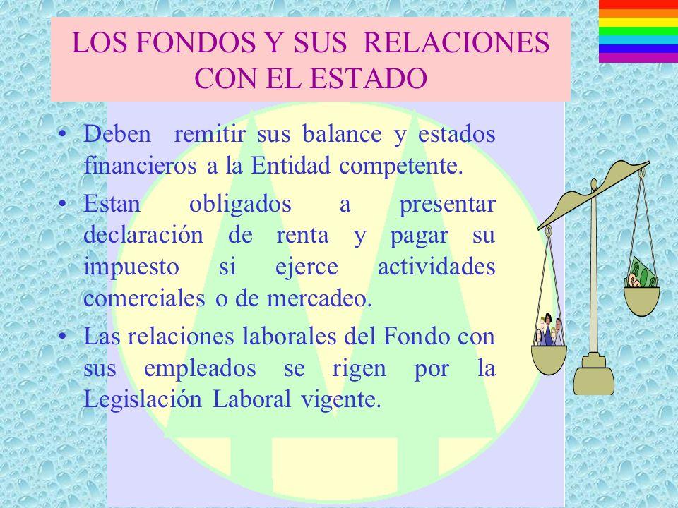 LOS FONDOS Y SUS RELACIONES CON EL ESTADO