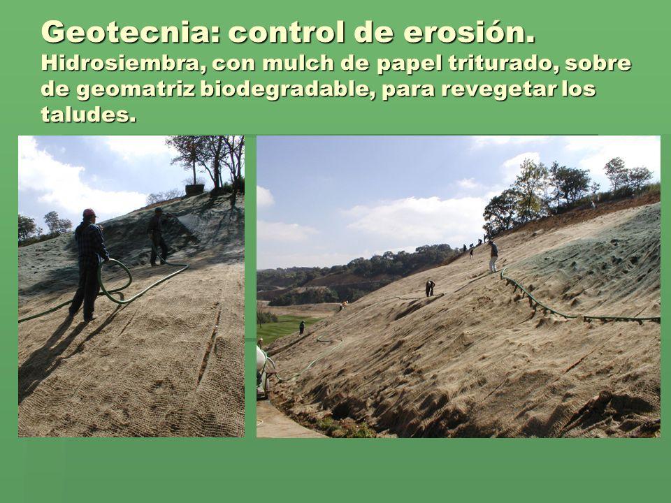 Geotecnia: control de erosión