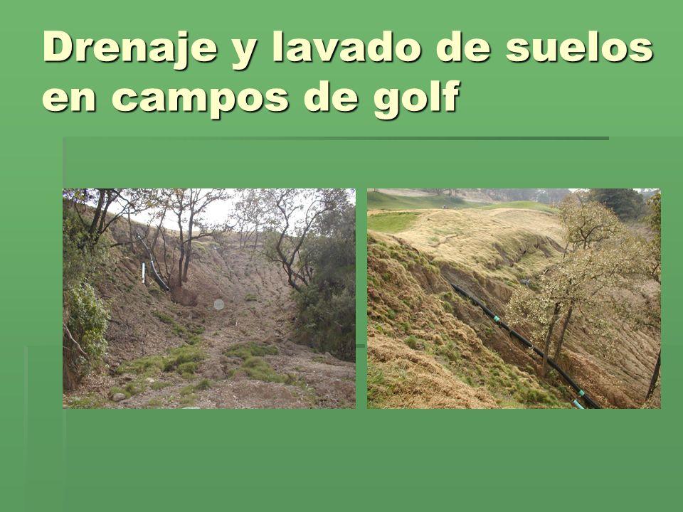 Drenaje y lavado de suelos en campos de golf
