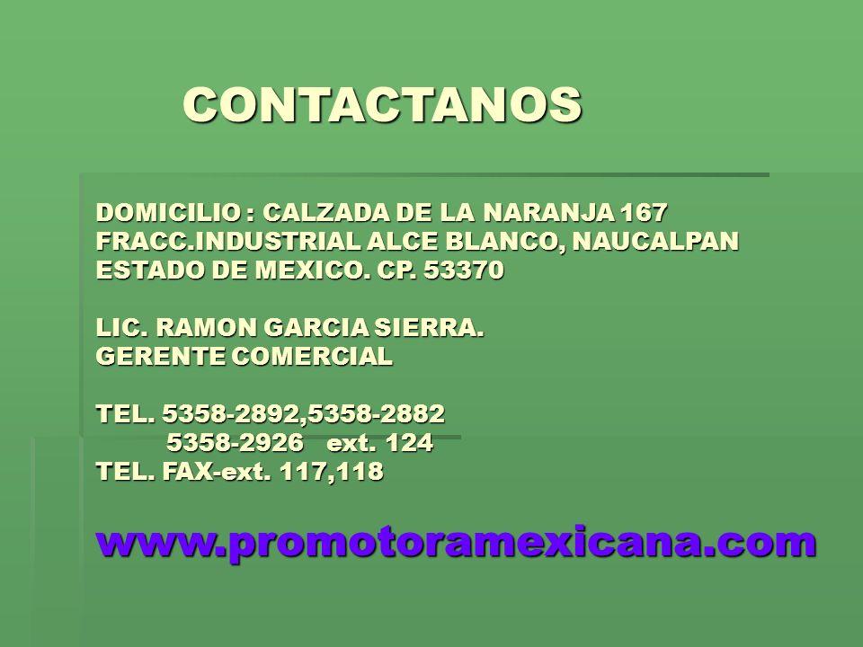 CONTACTANOS www.promotoramexicana.com