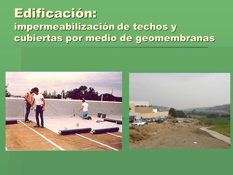 Edificación: impermeabilización de techos y cubiertas por medio de geomembranas