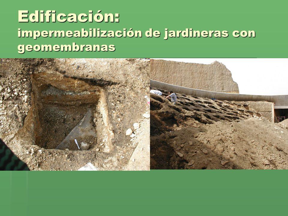 Edificación: impermeabilización de jardineras con geomembranas