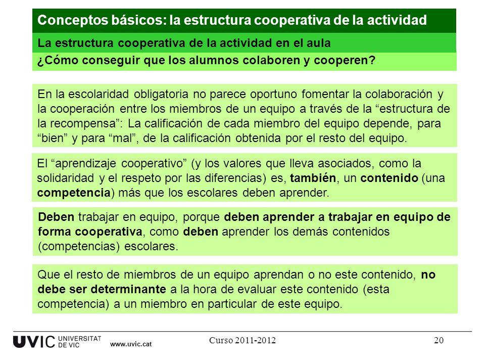 Conceptos básicos: la estructura cooperativa de la actividad