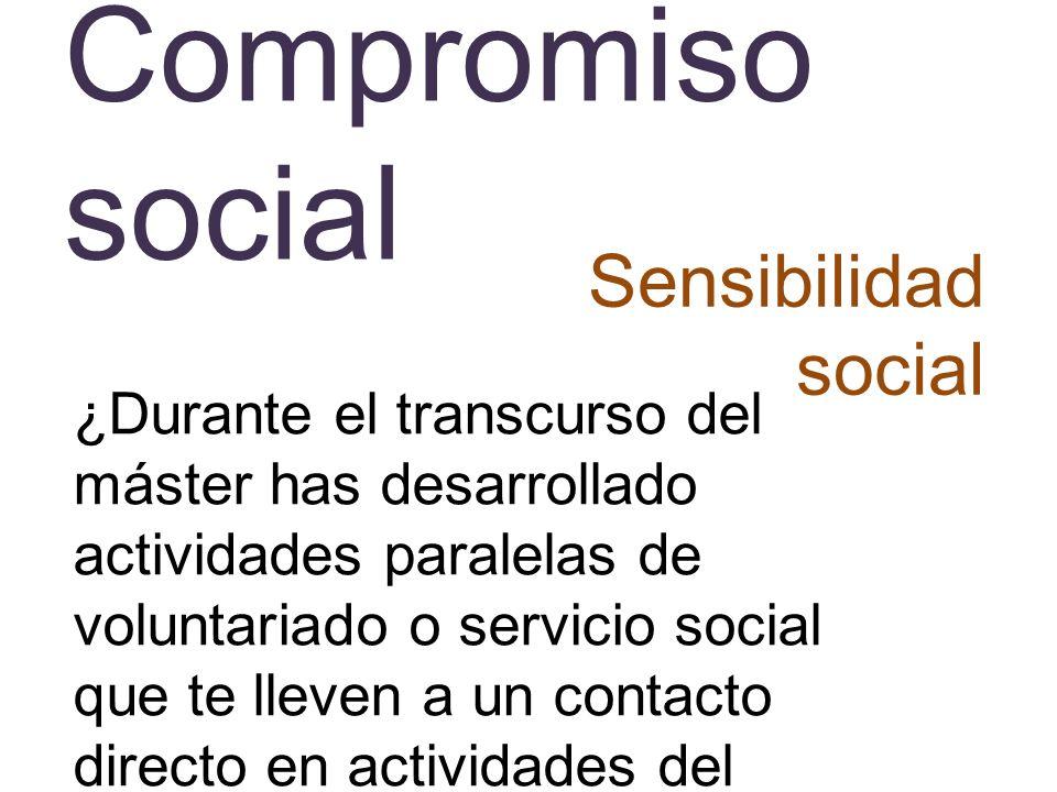 Compromiso social Sensibilidad social