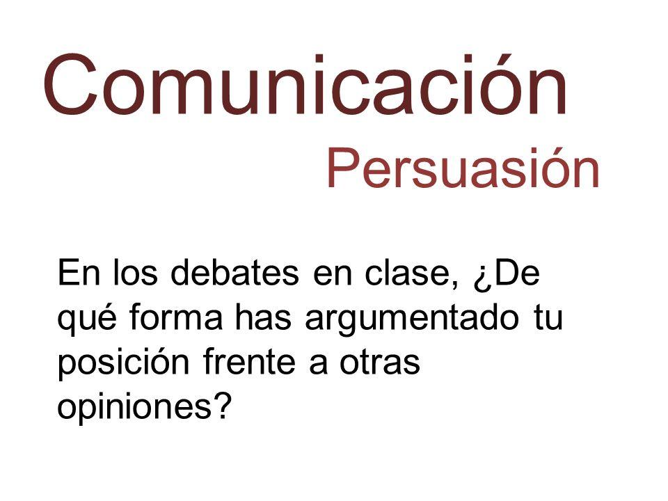 Comunicación Persuasión