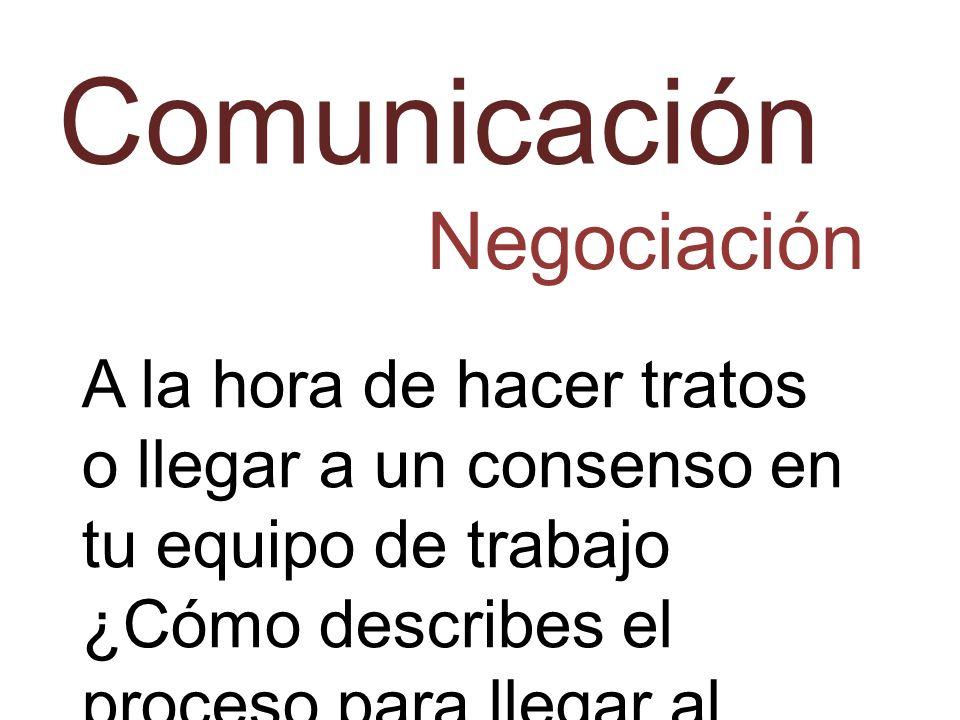 Comunicación Negociación