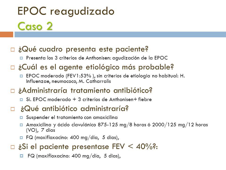 EPOC reagudizado Caso 2 ¿Qué cuadro presenta este paciente