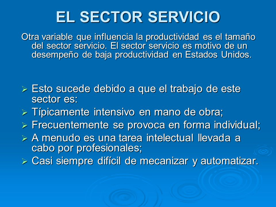 EL SECTOR SERVICIO
