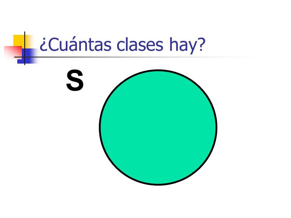 ¿Cuántas clases hay S