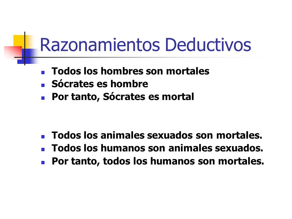 Razonamientos Deductivos