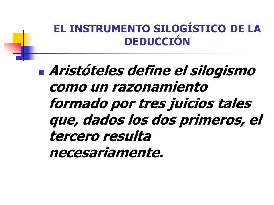 EL INSTRUMENTO SILOGÍSTICO DE LA DEDUCCIÓN