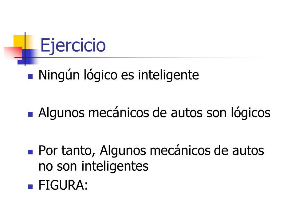 Ejercicio Ningún lógico es inteligente