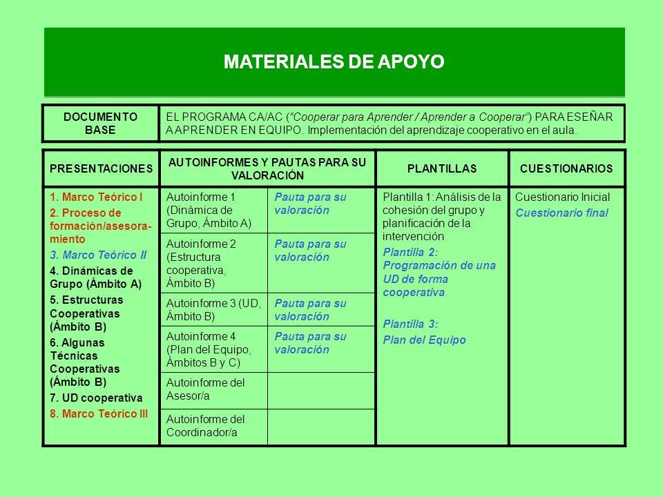 AUTOINFORMES Y PAUTAS PARA SU VALORACIÓN