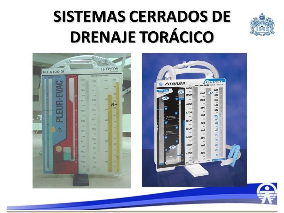 SISTEMAS CERRADOS DE DRENAJE TORÁCICO