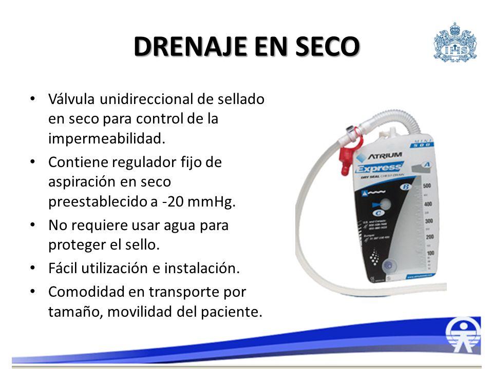 DRENAJE EN SECO Válvula unidireccional de sellado en seco para control de la impermeabilidad.